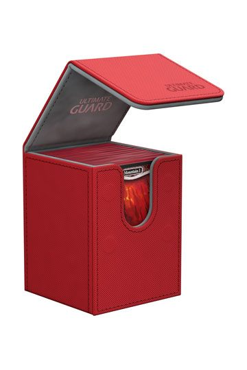 Ultimate Guard Flip Deck Case 100+ Standard Size XenoSkin Red