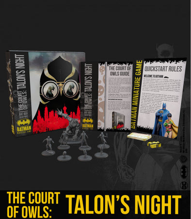 Batman Miniature Game - THE COURT OF OWLS: TALON'S NIGHT Bat Box (Starter Box)