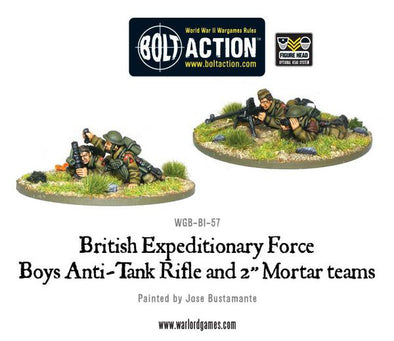 "BEF anti-tank rifle and 2"" light mortar teams"