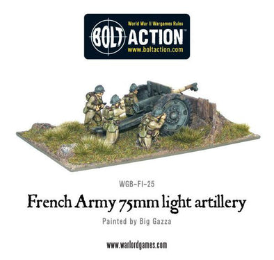 French Army 75mm light artillery