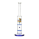 Glass Double Disc Perc Bong Blue HoneyComb