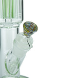 Cylinder Bong with 11-Arm Tree Perc