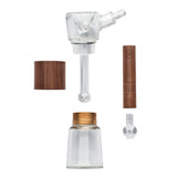 Glass and Walnut Wood Bubbler