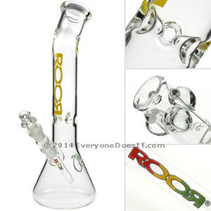 Bent Top Beaker Bong Yellow