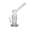 Meniscus Double Perc Bubbler Oil Rig White Logo