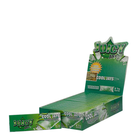Flavored Rolling Papers Regular Size Cool Jay Box of 24