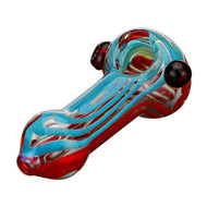 Glass Spoon Pipe Double Marble Swirl Details