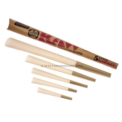 RAW 5 Stage Rawket Rolling Paper Cones CA