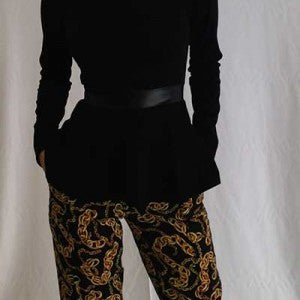 Chain Print Ankle Pant