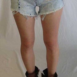 Acid Wash Highwaist Shorts