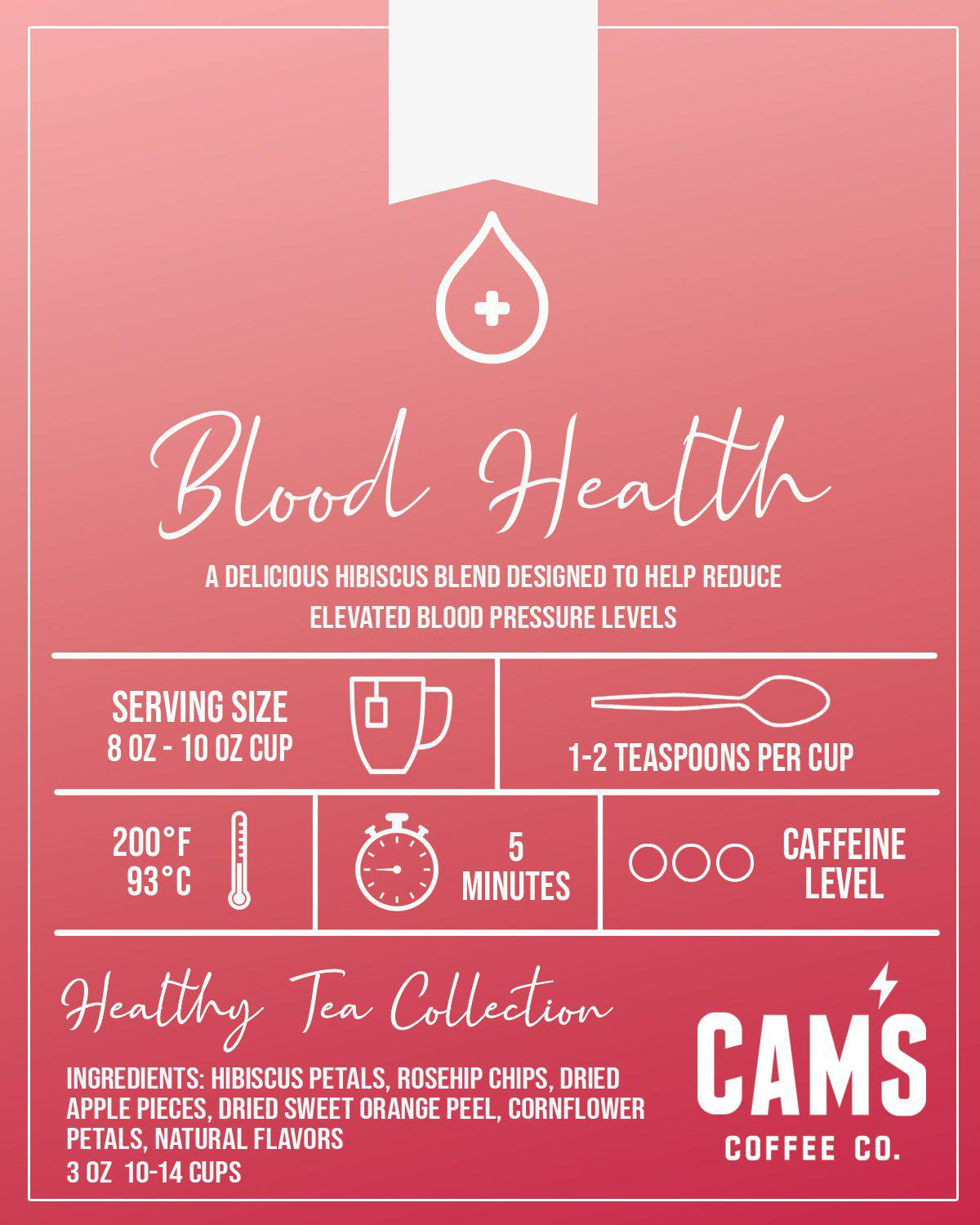 Blood Purifying Tea - Blood Cleansing Tea | Cam's Coffee Co.