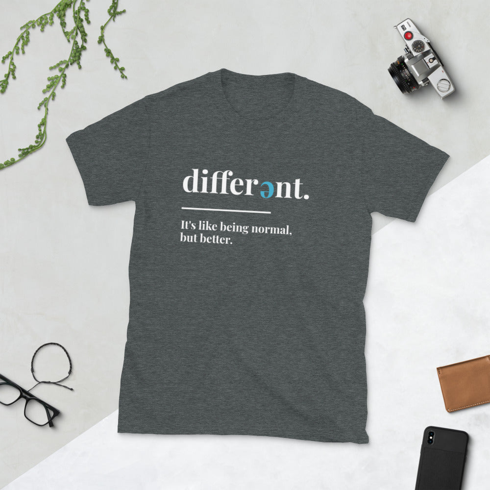 I'm Different Short-Sleeve Unisex T-Shirt-Cam's Coffee Co.-Dark Heather-M-Cam's Coffee Co.