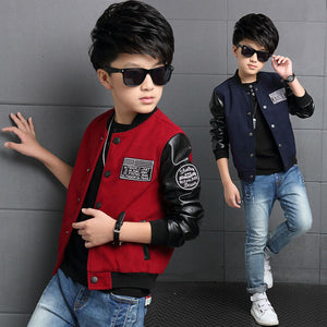 Badass Polyester Leather Casual Coat For Boys