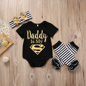 3 Pcs Newborn 'Superman' Clothing Set