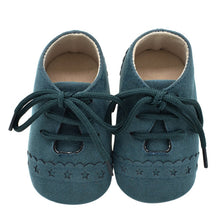 Casual Anti-slip And Soft Sole Leather Lacing Shoes For Kids