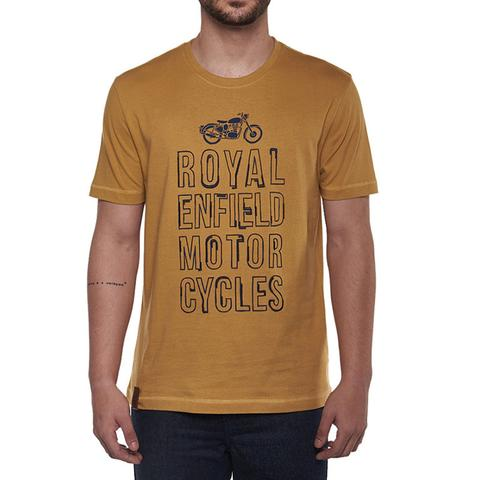 ROYAL ENFIELD TYPOGRAPHY TEE MUSTARD