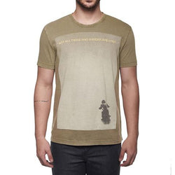 ROYAL ENFIELD WANDERLUST QUOTE TEE OLIVE