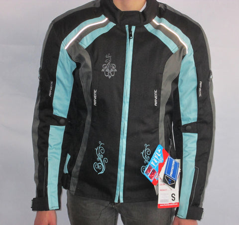 LADIES FROX TEXTILE JACKET BLUE