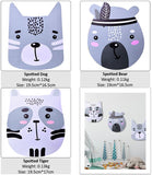3pcs Scandinavia Style 3D Wooden Wall Sticker Cartoon Dog Tiger Bear Kids Room Decor,Home Decorators,[tags] - DeliteShopping