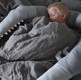 Nordic Style Grey Crocodile Baby Bed Bumper Toddler Toy 185cm,,[tags] - DeliteShopping