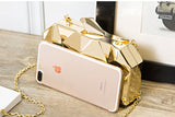 Retro Metallic Solid Women Evening Clutch Purses For Ladies,,[tags] - DeliteShopping