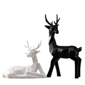 Nordic Modern Style Minimalist Deer Figurine Statue Miniature Home Decorators,,[tags] - DeliteShopping