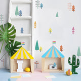 Nordic Style Colorful Forest Tree Wall Stickers For Kids Room Decor,Home Decorators,[tags] - DeliteShopping