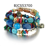 Ethnic Boho Vintage Multilayer Beads Charm Stone Bracelets for Women,,[tags] - DeliteShopping