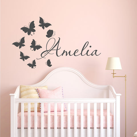 Personalized Name Wall Sticker Kids' Bedroom Decor,Home Decorators,[tags] - DeliteShopping
