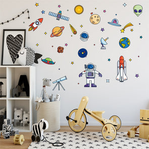 Creative Space Theme Cartoon Wall Sticker For Kids Room,Home Decorators,[tags] - DeliteShopping