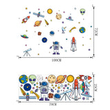 Creative Space Theme Cartoon Wall Sticker For Kids Room
