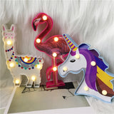 Animal Decorative LED Night Lamp (Alpaca/ Unicorn/ Flamingo),Home Decorators,[tags] - DeliteShopping