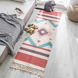 Retro Bohemian Geometry Hand Tassel Woven Carpet,Home Decorators,[tags] - DeliteShopping