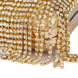 Exclusive Gold Beaded Clutch Bag,,[tags] - DeliteShopping