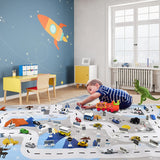 Snow Scene With Traffic Road Thin Play Map For Baby And Kids