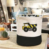 High Quality Cartoon Trucks Printed Storage Basket Laundry Bag Organizer For Toys & Clothes Kids Room Decor