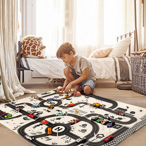City Village Educational Thin Play Mat For Kids