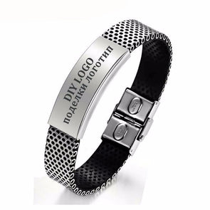 Personalized Name Bangle Stainless Steel Bangles Gift For Him,,[tags] - DeliteShopping