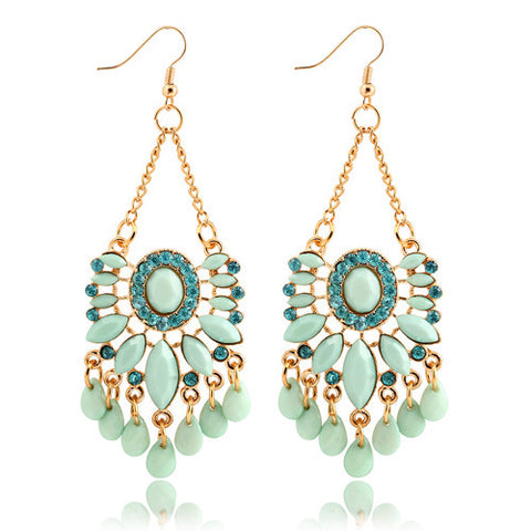Ocean Green Big Drop Earrings,,[tags] - DeliteShopping