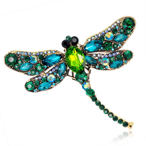 Rhinestone Insect Brooch (Green),,[tags] - DeliteShopping