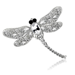 Rhinestone Insect Brooch (Silver),,[tags] - DeliteShopping