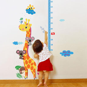 Giraffe Wall Sticker With Height Measurement For Kids,,[tags] - DeliteShopping