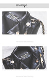European Designer PU Leather Biker Jacket Bags Clutch Bag,,[tags] - DeliteShopping