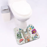 Rabbit Bathroom Set Absorbent Carpet With Toilet Cover A,Home Decorators,[tags] - DeliteShopping