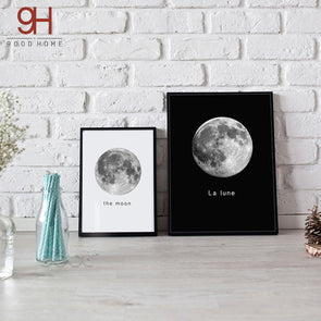 Nordic Style Moon Photography Photo Wall Decor,Home Decorators,[tags] - DeliteShopping