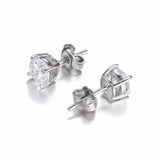 Round Sterling Silver Stud Earrings,Earrings,[tags] - DeliteShopping