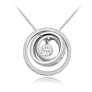 Swarovski Crystal Multiple Circles Pendant Necklace Jewelry Gift,,[tags] - DeliteShopping