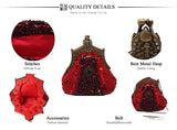 Vintage Classical Metal & Embroidery Beaded Evening Clutch Bags,,[tags] - DeliteShopping