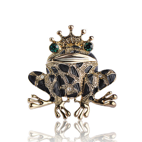 Frog Brooch(Black),,[tags] - DeliteShopping