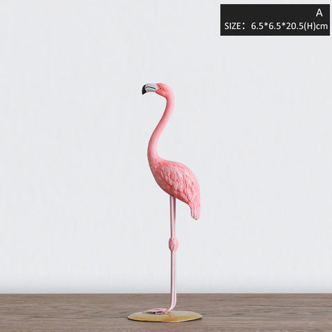 Resin Pink Flamingo Figure Home Decor,Home Decorators,[tags] - DeliteShopping